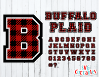 Buffalo Plaid Sport Alphabet