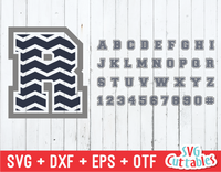 Chevron thin Pattern font, Chevron Alphabet and numbers