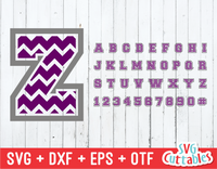 Chevron thick Pattern font, Chevron Alphabet and numbers