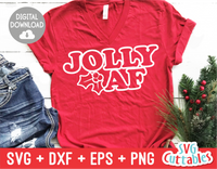 Jolly AF | Christmas Cut File