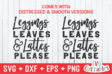 Leggings Leaves And Lattes Please | Fall SVG Cut File