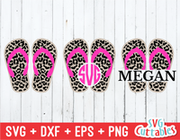 Leopard Print Flip Flop | Summer | SVG Cut File