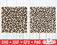 Leopard Print Seamless Patterns  | SVG Cut File