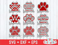 Leopards Patterned Paw Print, svg cut file