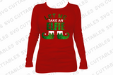 Let Me Take An Elfie, Christmas SVG