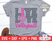 Live Love Volleyball | SVG Cut File