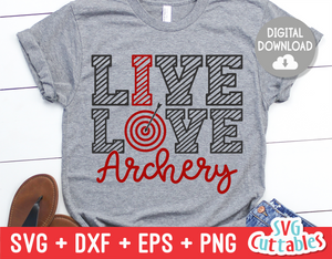 Live love archery svg cut file