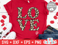 Love Leopard Print | Valentine's Day svg Cut File