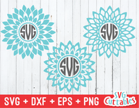 Mandala Set of 3, Monogram Frames