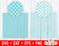 Mermaid Scales Patterns | SVG Cut Files