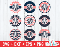 Monogram frame set of 9