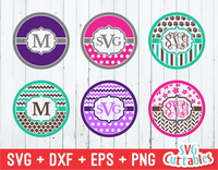 Monogram Frame set of 6