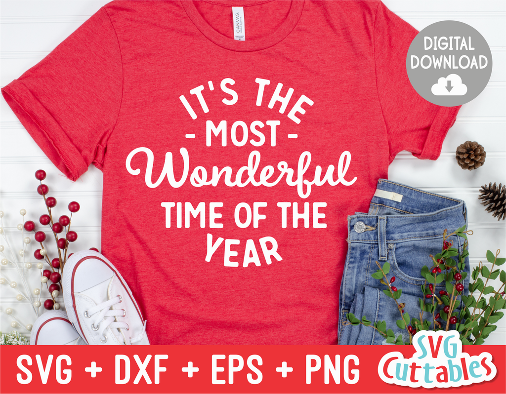 It's The Most Wonderful Time Of The Year  | Cut File