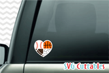 Sports Balls SVG  Love / Mom Hearts