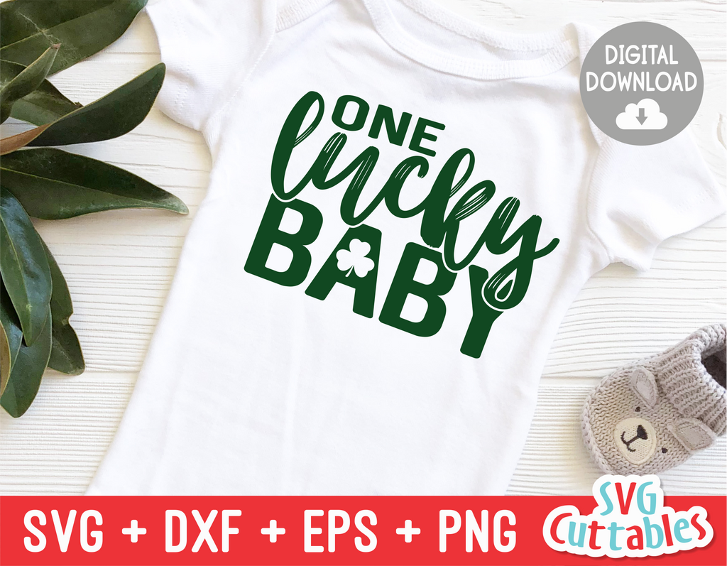 One Lucky Baby | St. Patrick's Day Cut File