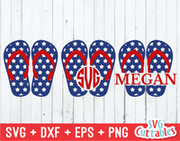 Patriotic Flip Flops | 4th of July | SVG Cut File