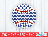 Patterned Baseball / Softball svg