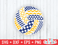 Patterned Volleyball, svg cut file