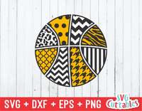 Patterned Basketball cut file