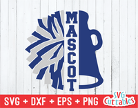 Pom & Megaphone | Cheerleader | SVG Cut File