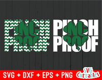 St. Patrick's Day Pinch Proof clover punchout