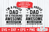 I'm A Proud Dad Of A Awesome Daughter  | Father's Day | SVG Cut File