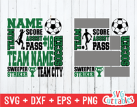 Soccer Subway Art, Girls / Boys version, SVG Template