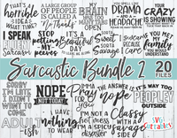 Sarcastic Bundle 2 | SVG Cut File