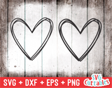 Scribble Hearts  | SVG Cut File