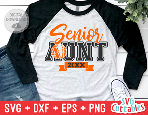 Senior Basketball Aunt | SVG Cut File