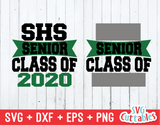 Graduation svg cut file, Senior Class of