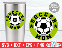 Soccer Mom Circle Monogram Frame