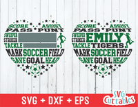 Soccer Heart Subway Art, Girls / Boys version, SVG Template
