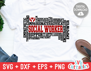 Social Worker Word Art