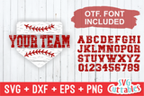 Split Home Plate Baseball / Softball Distressed | SVG Cut File