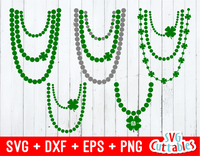 St. Patrick's Day  Necklace Vector Set of 5