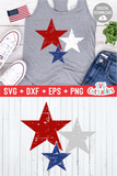 Distressed Stars  |  Fourth of July  SVG Cut File