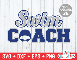 Swim Coach | SVG Cut File