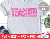 Teacher Word Art | Teacher SVG Cut File