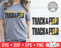 Track and Field Distressed