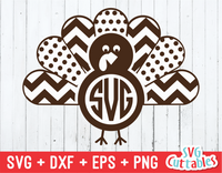 Thanksgiving Turkey Monogram Frame
