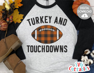 Turkey and Touchdowns | Thanksgiving SVG Cut File