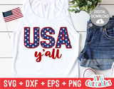 USA Ya'll | Fourth of July | SVG Cut File