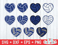 Volleyball heart svg, Volleyball heart ball collection