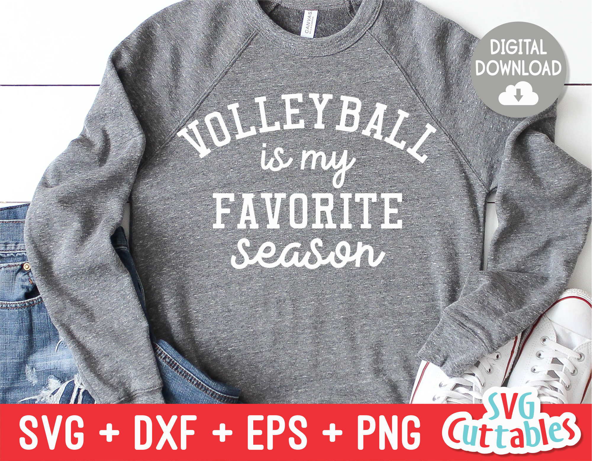 Volleyball Is My Favorite Season Volleyball Svg Cut File Svgcuttablefiles