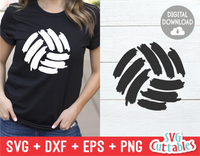 Volleyball Paint Stroke | SVG Cut File