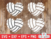 Volleyball heart svg
