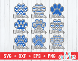 Widcats Patterned Paw Print, svg cut file