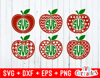 Apple, Teacher Apple Monogram Frames set of six