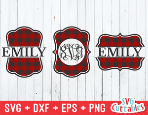 Buffalo Plaid  Monogram Frames
